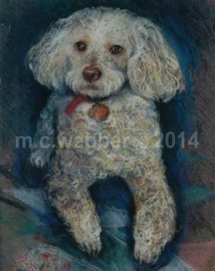 MCWEBBER White Dog - Pastel