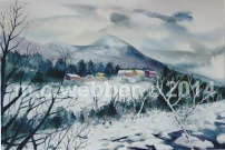 MCWEBBER Waterville Valley - Watercolor