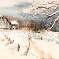 MCWEBBER Winter Hideaway - Watercolor