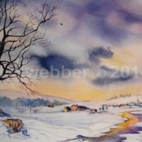 MCWEBBER Winter Village-Watercolor