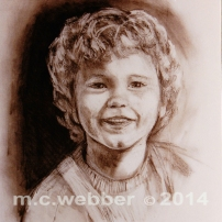 MCWEBBER Boy with Curly Hair - Charcoal