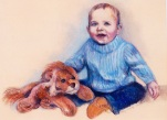MCWEBBER Baby with Stuffed Lion - Pastel