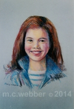 MCWEBBER Girl with Blue Denim - Pastel