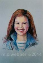 MCWEBBER Girl with Blue Denim - Pastel