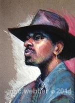 MCWEBBER Man with Hat - Pastel