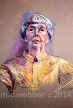 MCWEBBER Woman with Yellow Blouse - Pastel