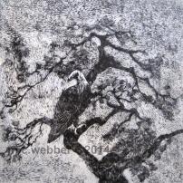 MCWEBBER Whispers of Pine - woodcut